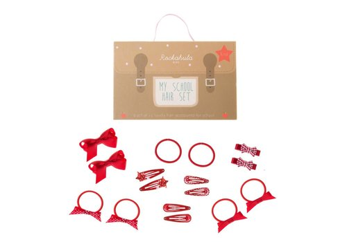 School Hair Set - 16 pieces - Red