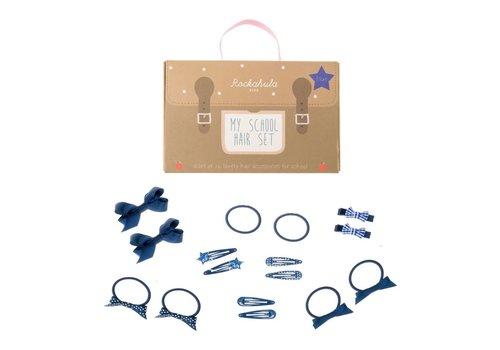 School Hair Set - 16 pieces - Blue