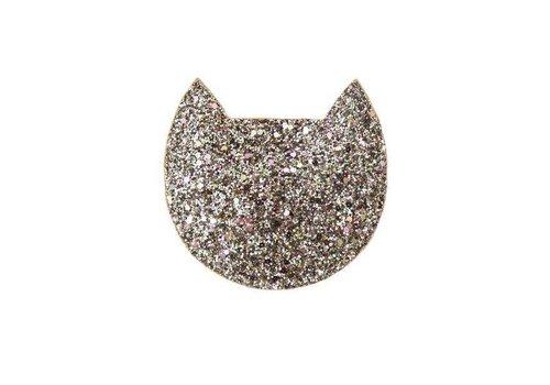 Cat Gold Glitter Purse