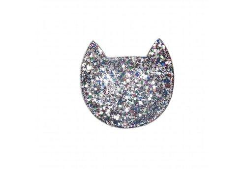 Cat Multi Glitter Purse