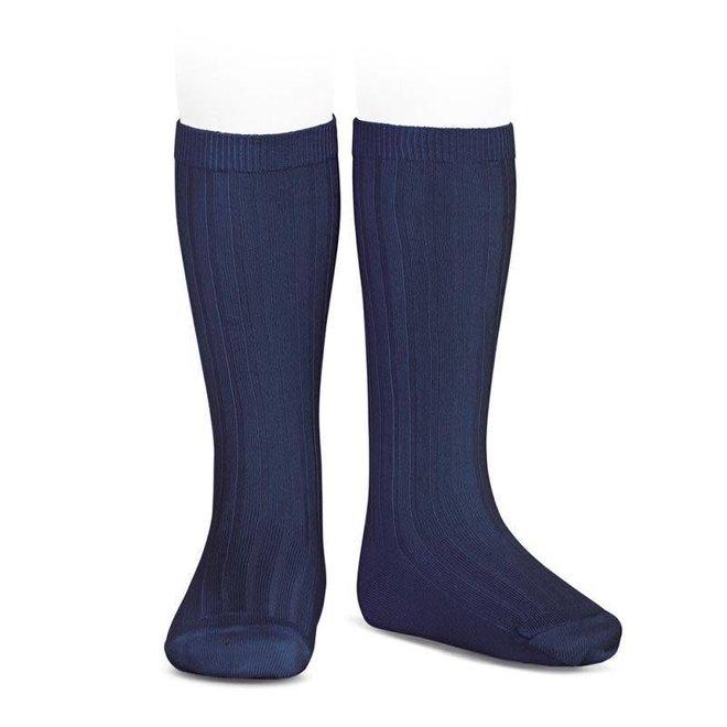 CONDOR - Kniesokken - Navy Blue (480)