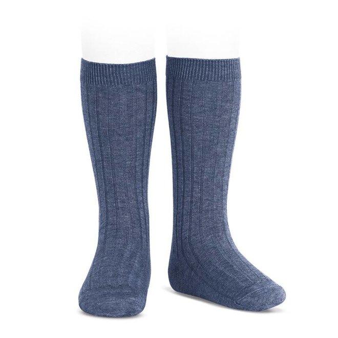 CONDOR - Kniesokken - Jeans (490)