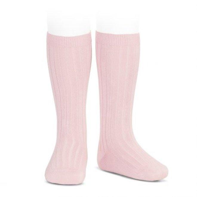 CONDOR - Kniesokken - Baby Pink (500)