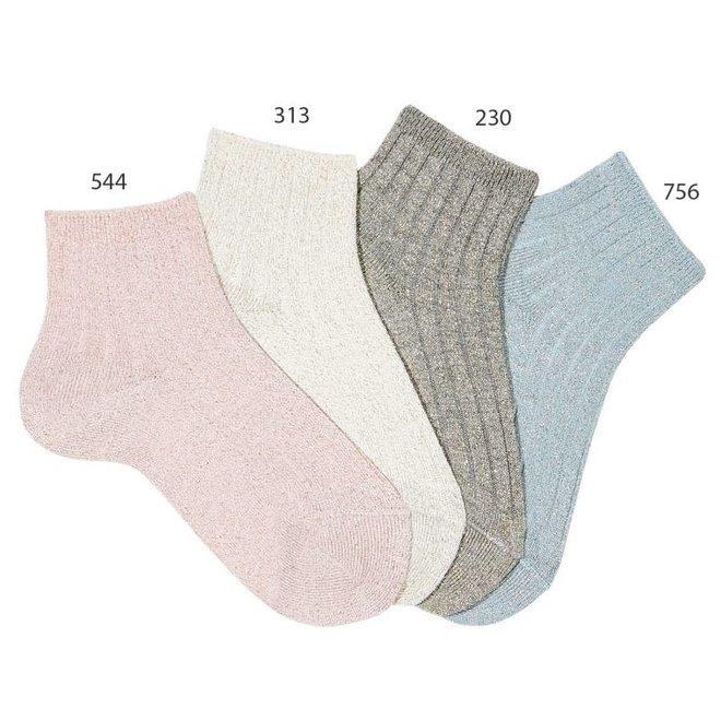 CONDOR - Enkel sokken met Glitter - Verschillende kleuren
