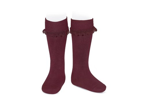 CONDOR Knee Socks with folded cuff and lace (575)