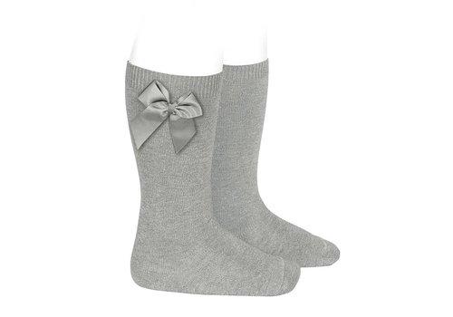 CONDOR Knee socks with grossgrain bow (221)