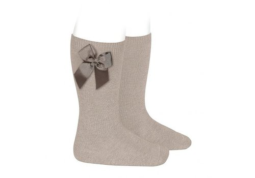 CONDOR knee socks with grossgrain bow (334)
