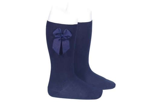 CONDOR knee socks with grossgrain bow (480)