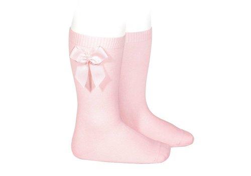 CONDOR knee socks with grossgrain bow (500)