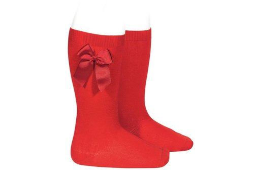 CONDOR CONDOR - Knee socks with grossgrain bow (550)