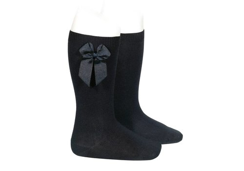CONDOR knee socks with grossgrain bow (900)