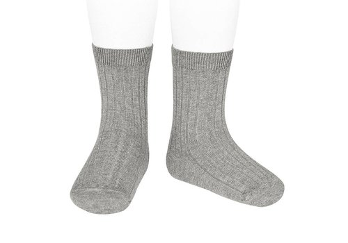 CONDOR CONDOR - Korte Sokken - Aluminium (221)