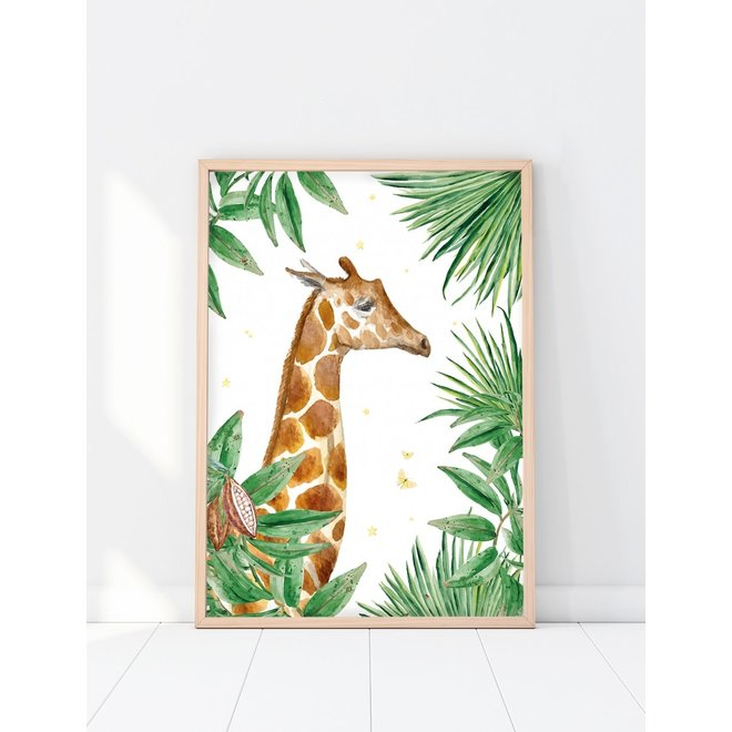 CREATIVE LAB AMSTERDAM - Jungle Star Giraf 70x100