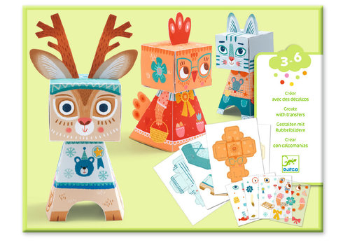 DJECO - Arty Paper - Animaux Decalques