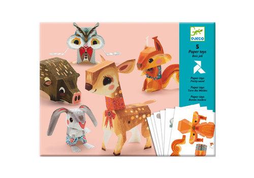 DJECO - Paper Toys - Bois Jolie