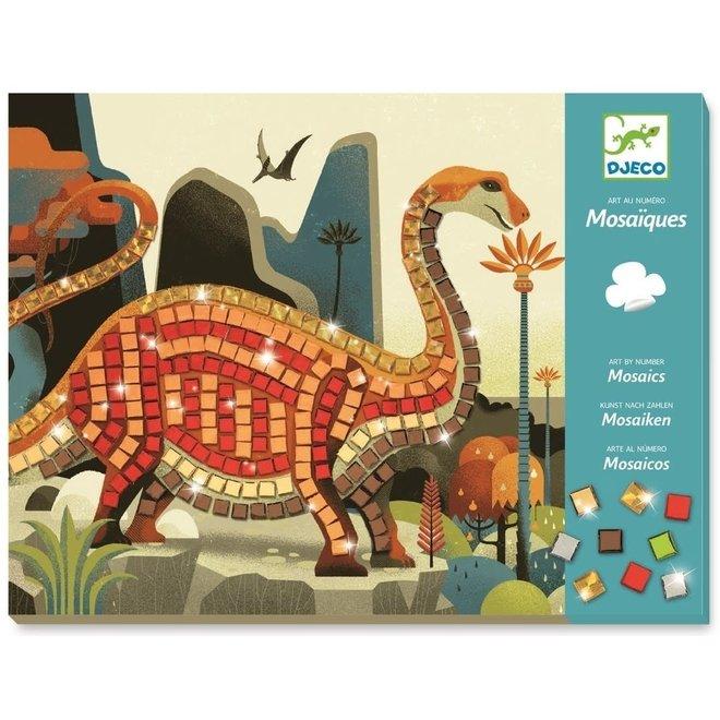 DJECO - Creatief met Stickers - Mozaïk Dinosaurus