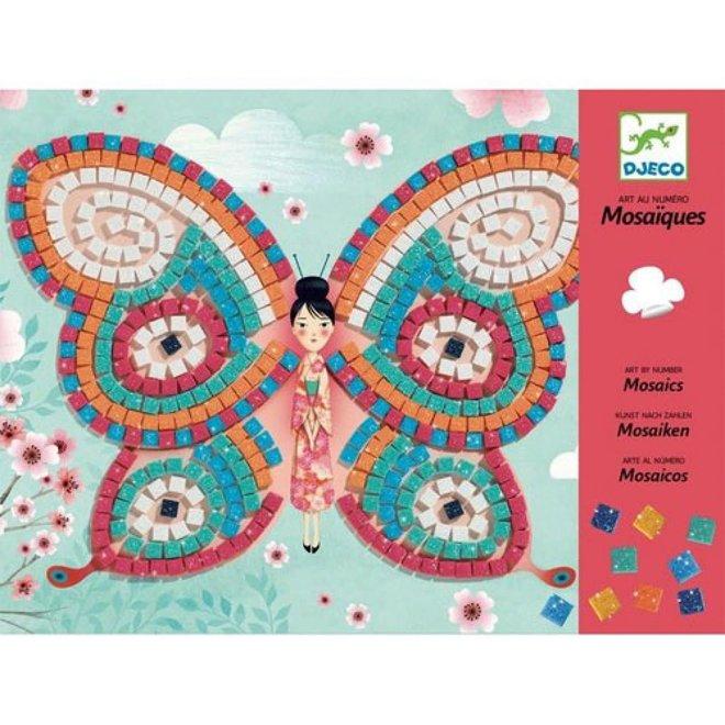 DJECO - Creatief met Stickers - Mozaïk Vlinder 4+