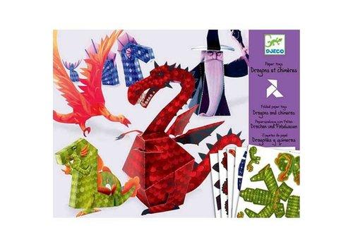 DJECO - Paper Toys - Dragons