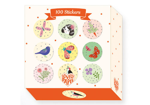 Djeco DJECO - Lovely Paper 100 Stickers ChiChi