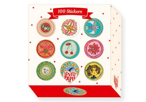 Djeco DJECO - Lovely Paper 100 Stickers Aurelia