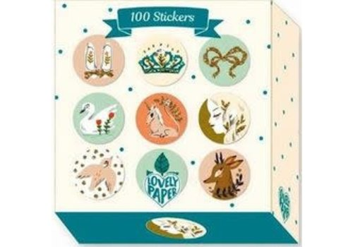DJECO - Lovely Paper 100 Stickers Lucille