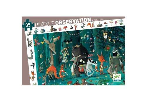 DJECO - Puzzel Observation - L'Ochestre 35stuks