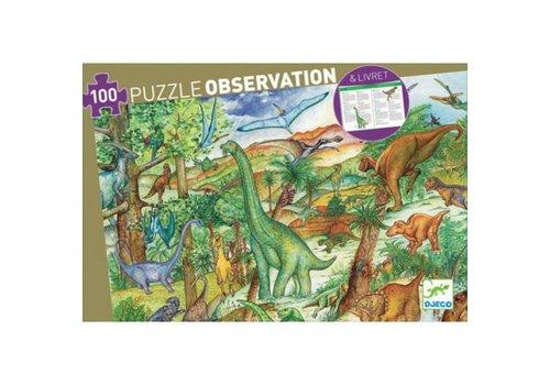 DJECO - Puzzel Observation - Dinosaurus 100suks