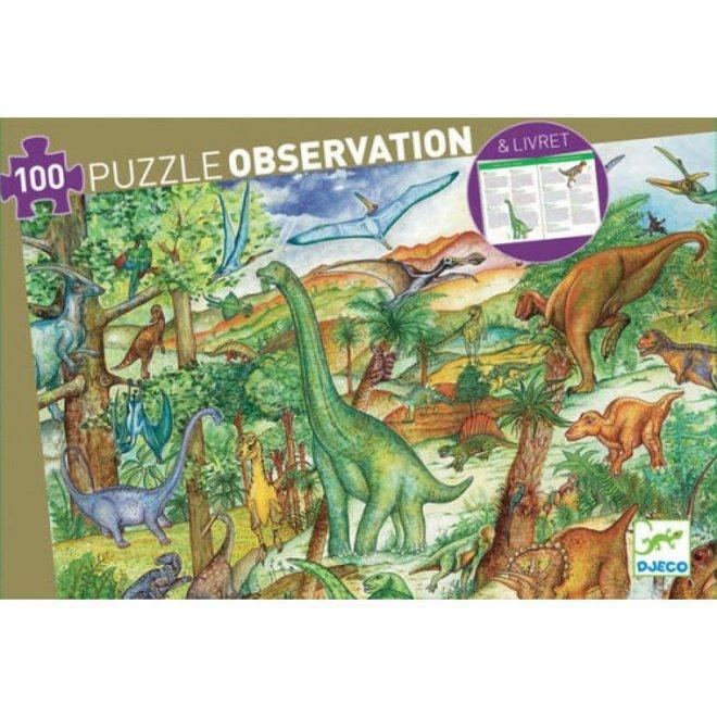 DJECO - Puzzel Observation - Dinosaurus (100stuks) 5+
