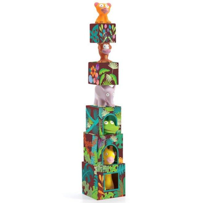 DJECO - Creatief met Blokken - Maxi Topanijungle 18m+