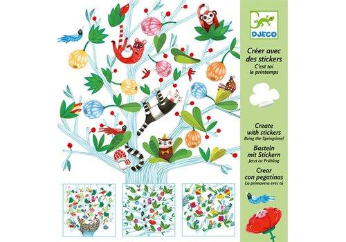 DJECO - Create with stickers - C'est toi, le printemps