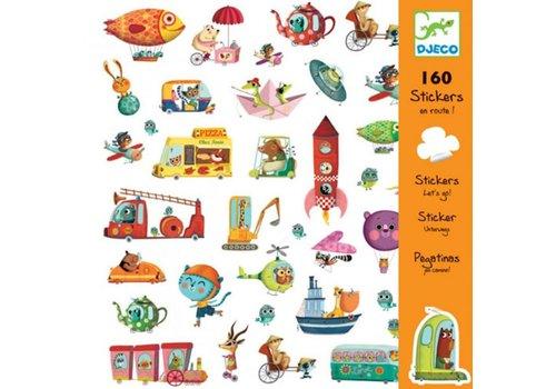 Djeco DJECO - 160 Stickers - Onderweg