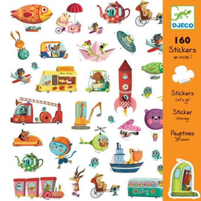 DJECO - 160 Stickers - Onderweg