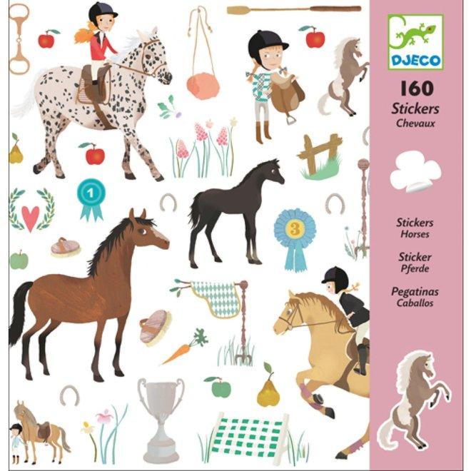 DJECO - 160 Stickers - Paarden