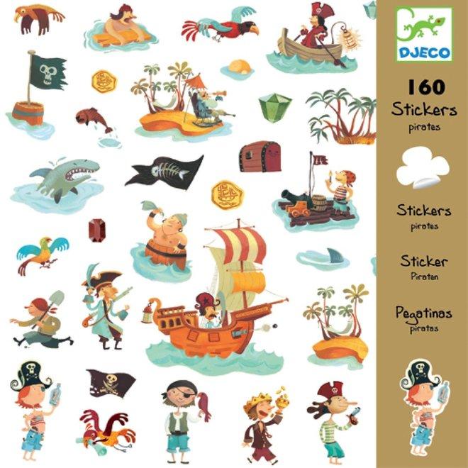 DJECO - 160 stickers - Piraten
