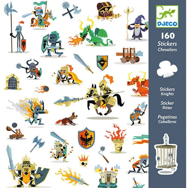 DJECO - 160 Stickers - Ridders