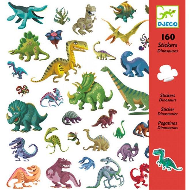 DJECO - 160 Stickers - Dinosaurus