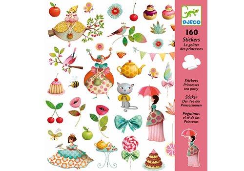 Djeco DJECO - 160 Stickers - Thee Drinken met Prinsessen