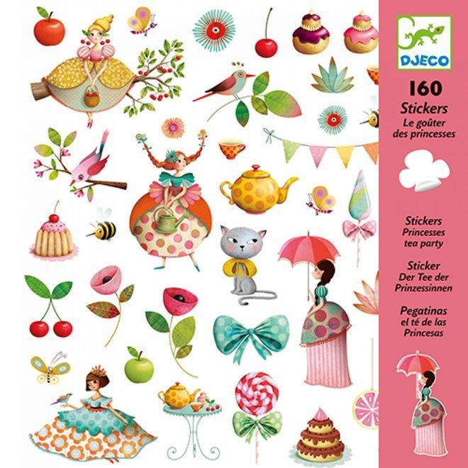DJECO - 160 Stickers - Thee Drinken met Prinsessen