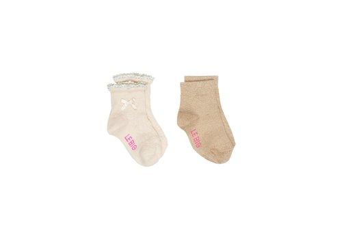 Lebig LEBIG - Korte sokken - Macy Pearled Ivory