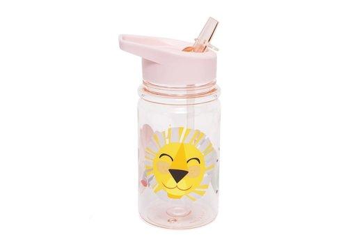 PETIT MONKEY - Drinkfles - Shiny Lion Pink
