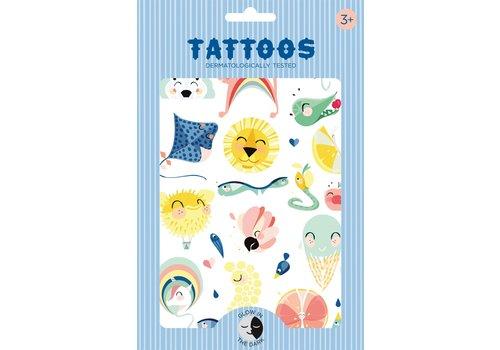 """PETIT MONKEY - Tattoo - Shiny Lion """"Glow in the dark"""""""