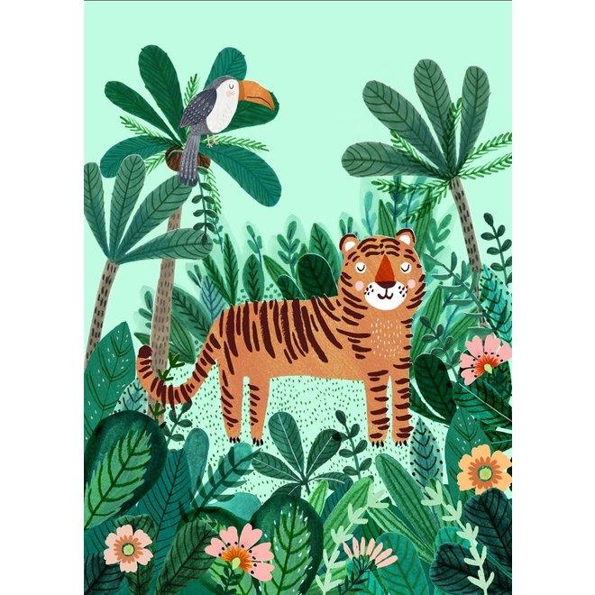 PETIT MONKEY - Postkaart - Tiger and Toucan