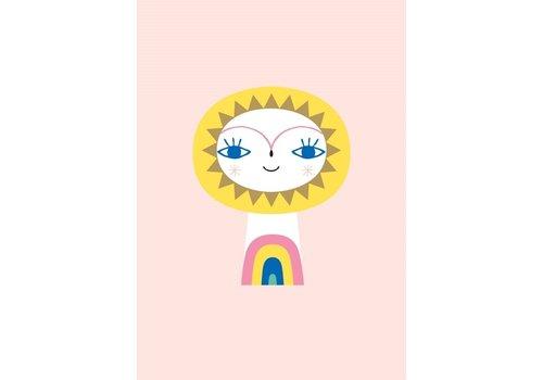PETIT MONKEY - Postkaart - Mr Sun