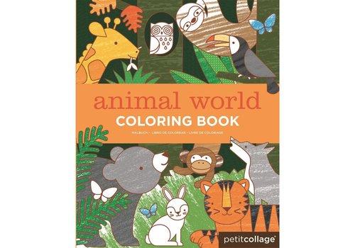 PETIT COLLAGE - Kleurboek - Dierenwereld
