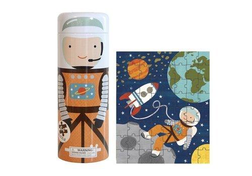 PETIT COLLAGE - Puzzel&Spaarpot - Astronaut 64stuks