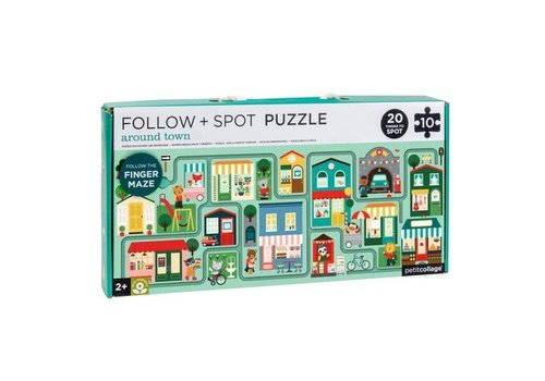 PETIT COLLAGE - Puzzel Follow&Spot - Stad