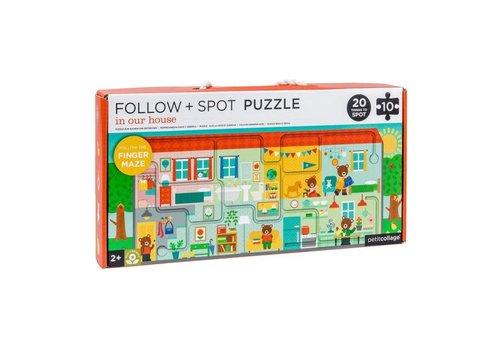 PETIT COLLAGE - Puzzel Follow&Spot - Huis