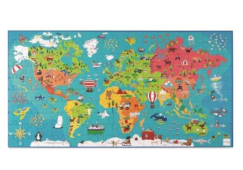 SCRATCH - Puzzel - Wereldkaart 150 stuks
