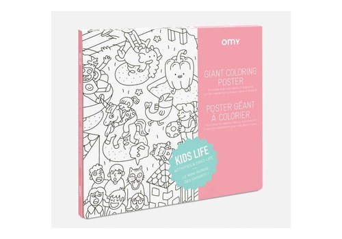 Omy OMY - Coloring Poster 100x70cm - Kids Life