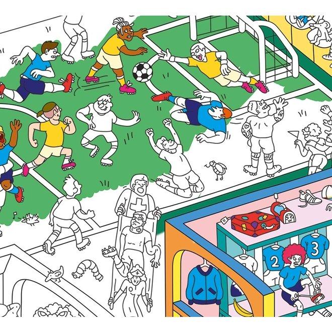 OMY - Kleurposter - Football (100x70cm)